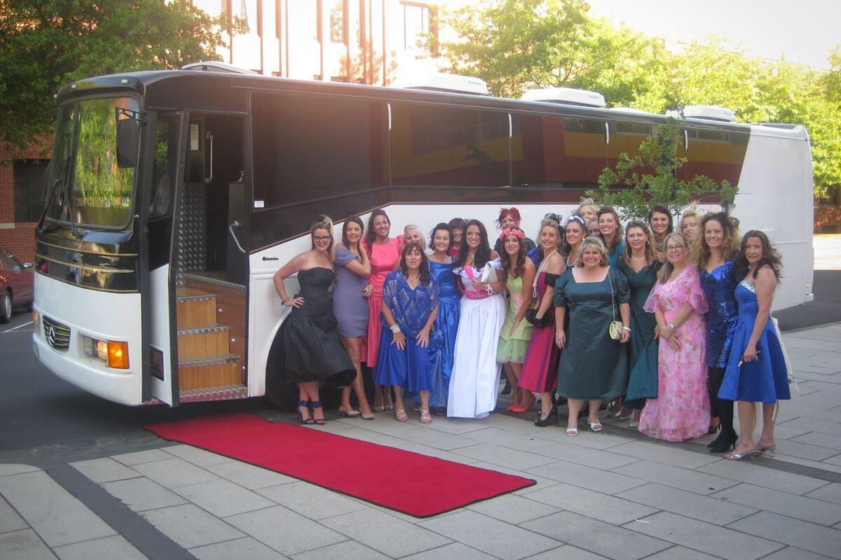 wedding bus hire perth wa